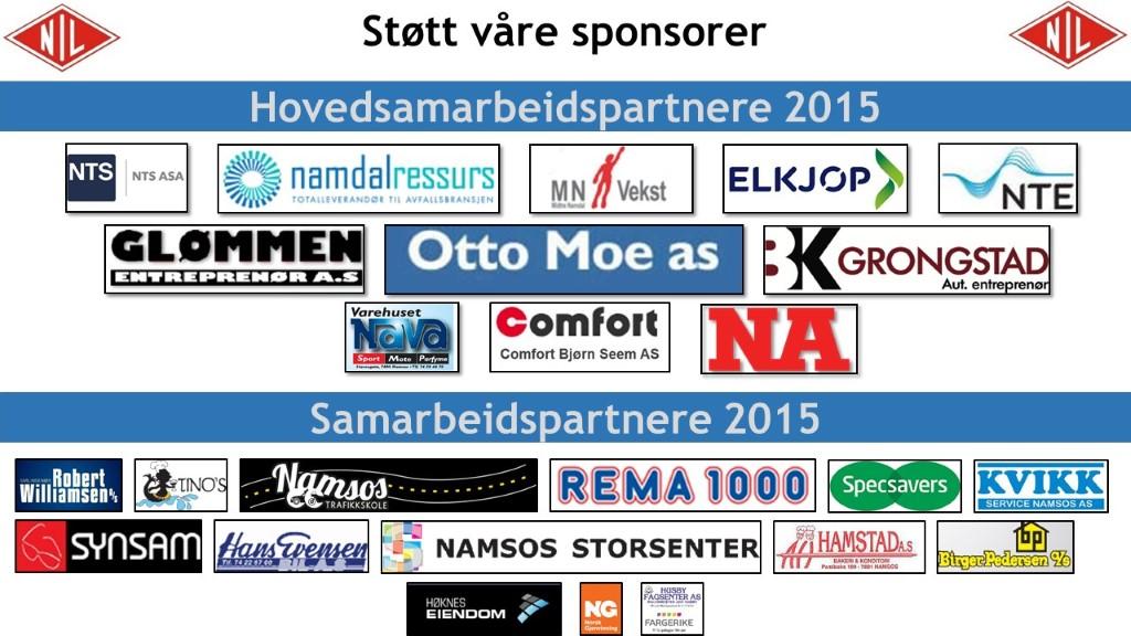 Sponsorer og samarbeidspartnere Namsos IL Fotball
