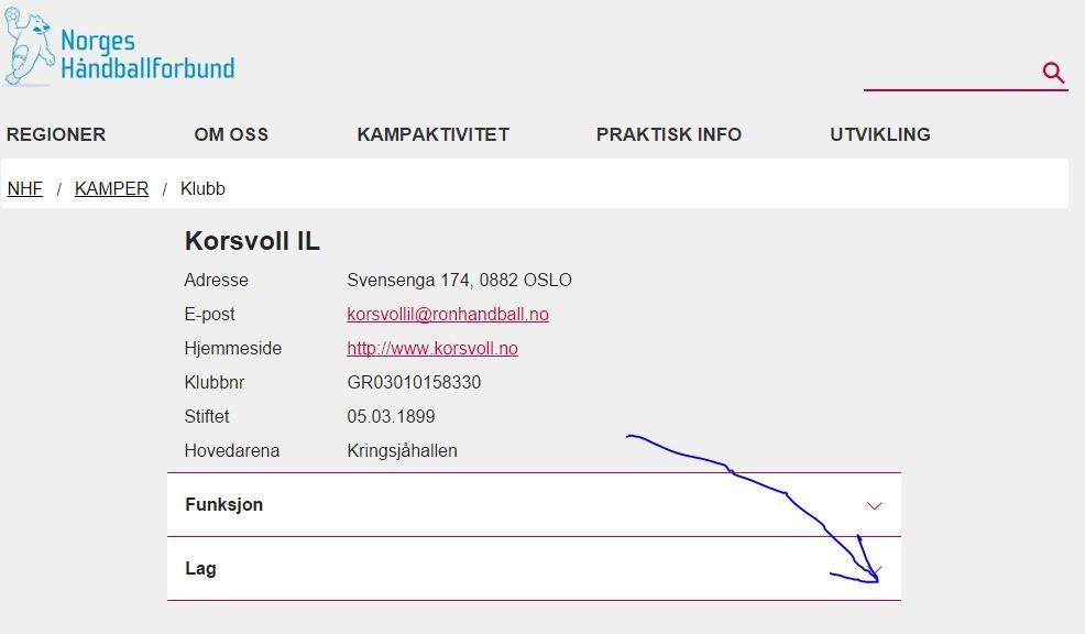handball.no Korsvoll